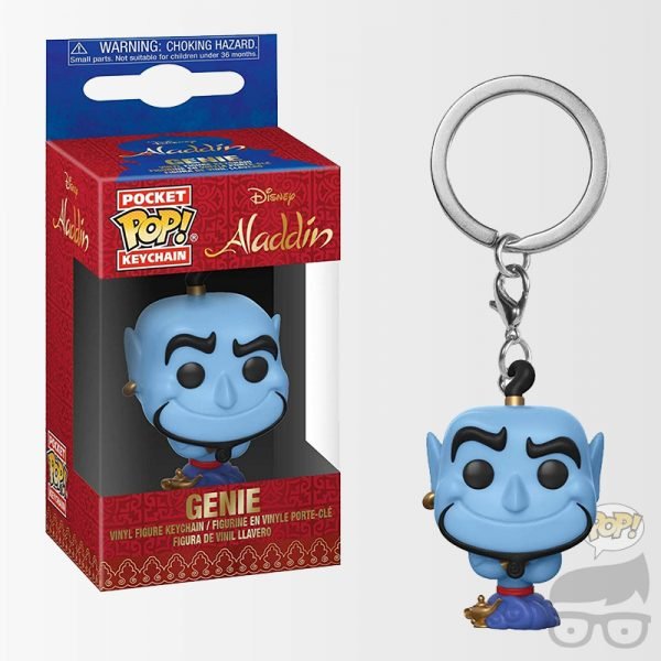 Aladdin Genie Pocket Pop! KeyChain Llavero Genio