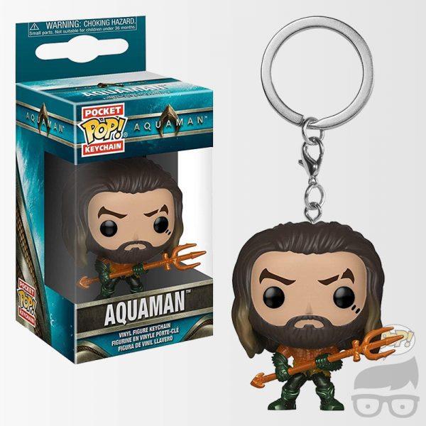 Aquaman Arthur Curry Pocket Pop! KeyChain Llavero