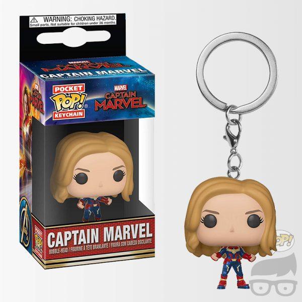 Captain Marvel Unmasked Pocket Pop! Key Chain