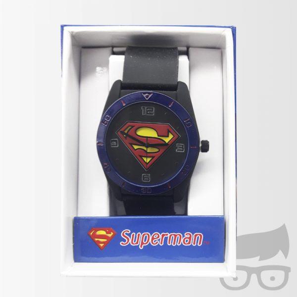 Superman Emblem Tank Case Strap Watch Games Geeks