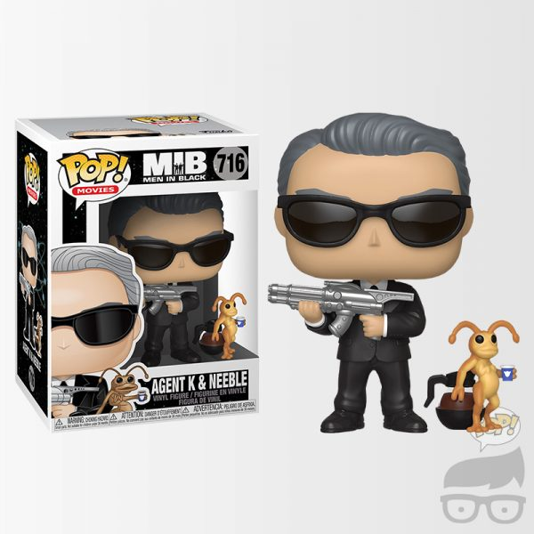 Agent K and Neeble 716 Games Geeks Funko Pop