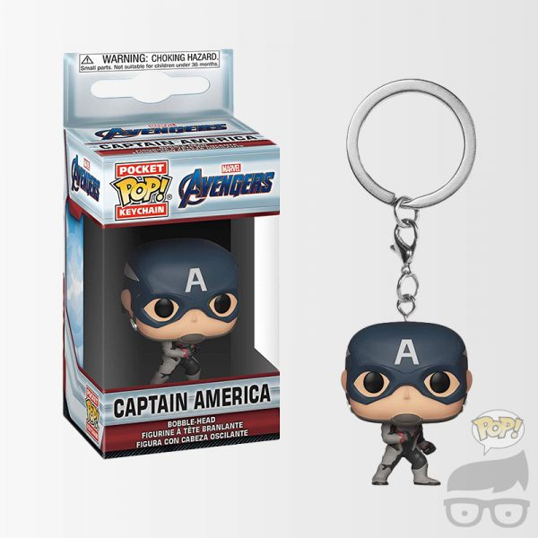 Captain America Llavero Avengers-Endgame Avengers: Endgame Captain America Pocket Pop! Key Chain