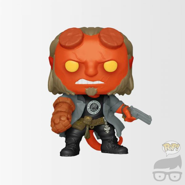 Hellboy Movie Hellboy with BPRD T-Shirt Pop! Vinyl Figure Games Geeks