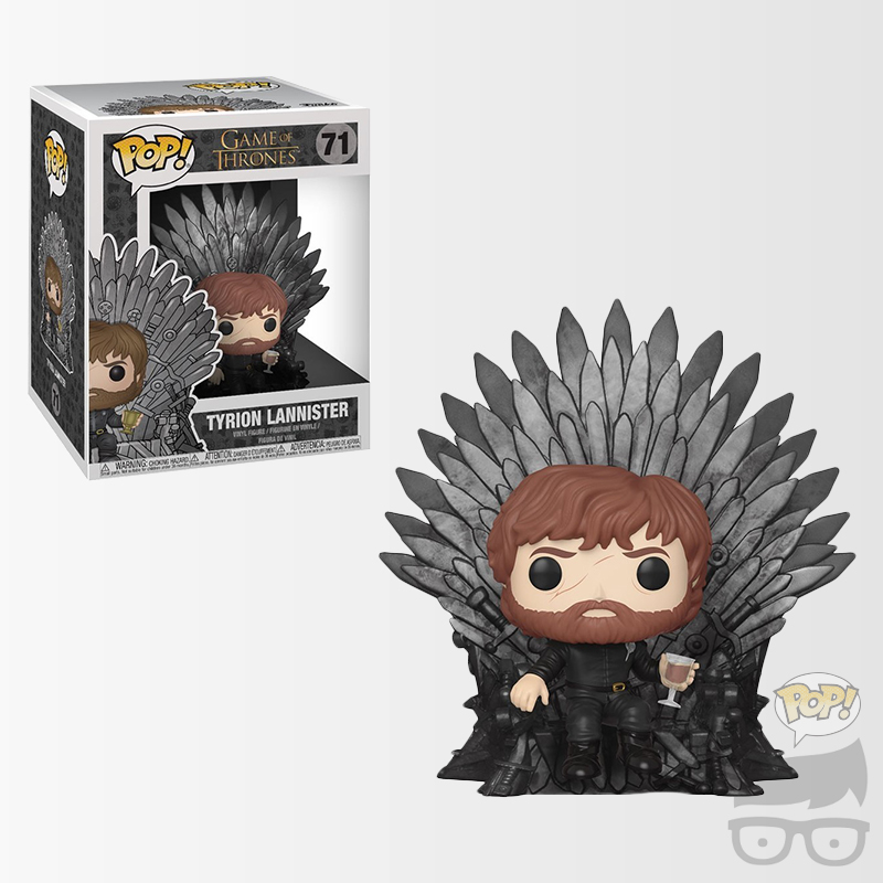 Game of Thrones Tyrion Lannister Sitting on Throne Deluxe Pop! Vinyl Figure Games Geeks